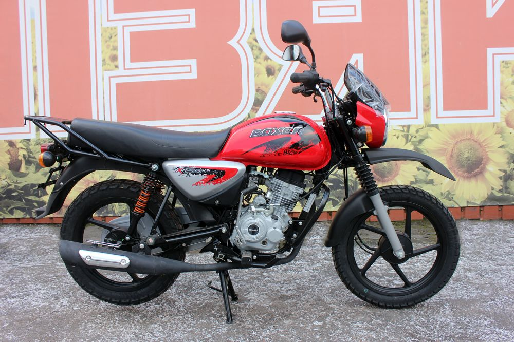 Мотоцикл BAJAJ BOXER 150 CROSS (Индия) красний
