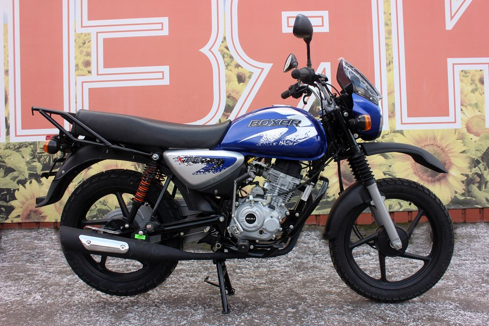 Мотоцикл BAJAJ BOXER 150 CROSS (Индия) синий